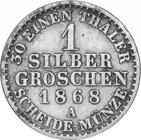 1 Silbergroschen Preußen König Wilhelm I. 1861-73