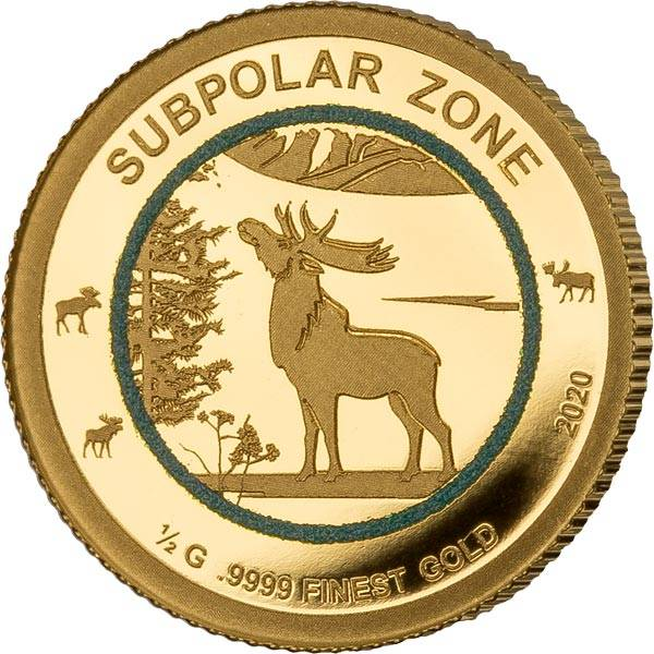 1.000 Francs Guinea Subpolare Zone Elch 2020