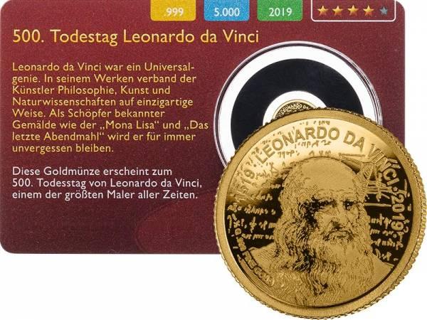 100 Francs Niger 500. Todestag von Leonardo da Vinci 2019