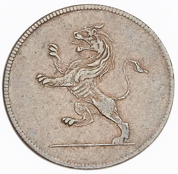 1 Heller Frankfurt Judenpfennig Löwe 1821