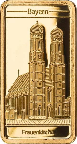 0,5 Gramm Goldbarren Bayern Frauenkirche 2019