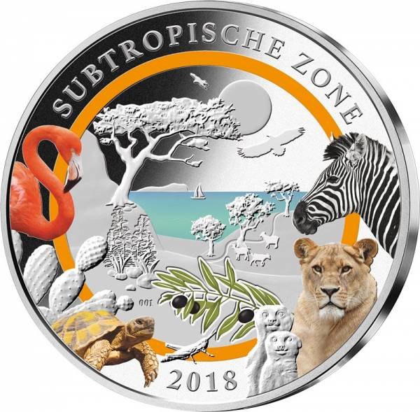 3 Unzen Silber Gedenkprägung Subtropische Zone 2018