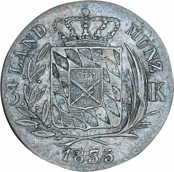 3 Kreuzer Bayern König Ludwig I. 1827 - 1836