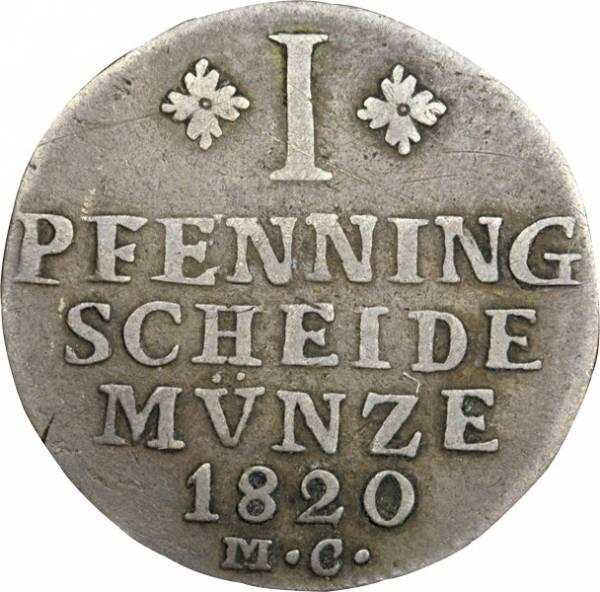 1 Pfenning Braunschweig Herzog Karl 1816-1822