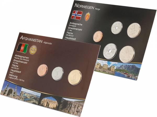 Kursmünzen-Set Norwegen und Afghanistan