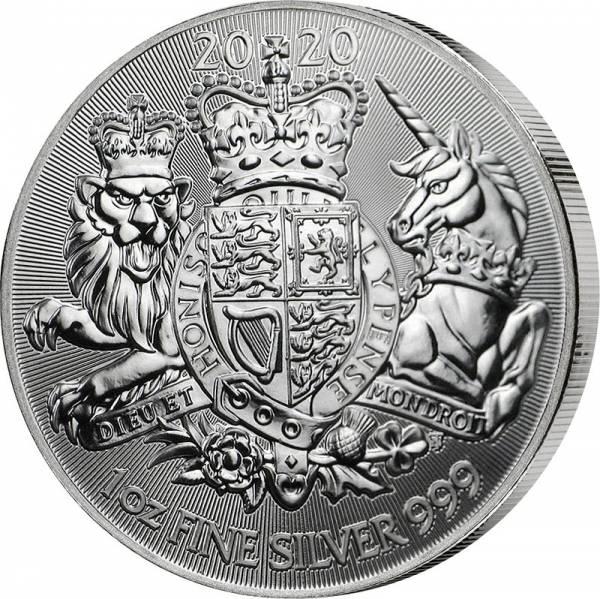 1 Unze Silber Großbritannien Royal Arms 2020