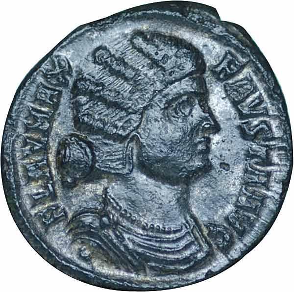 Follis Mittel-Rom Kaiserin Fausta 325-326 n.Chr. Sehr schön