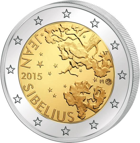 2 Euro Finnland Jean Sibelius 2015 prägefrisch