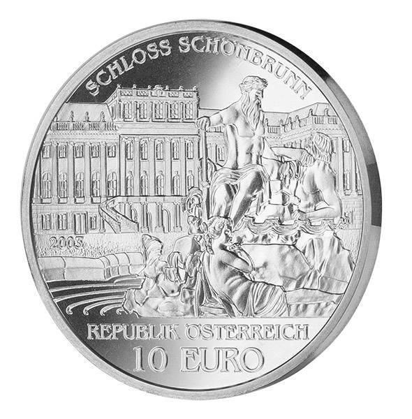 10 Euro Österreich Schloss Schönbrunn 2003