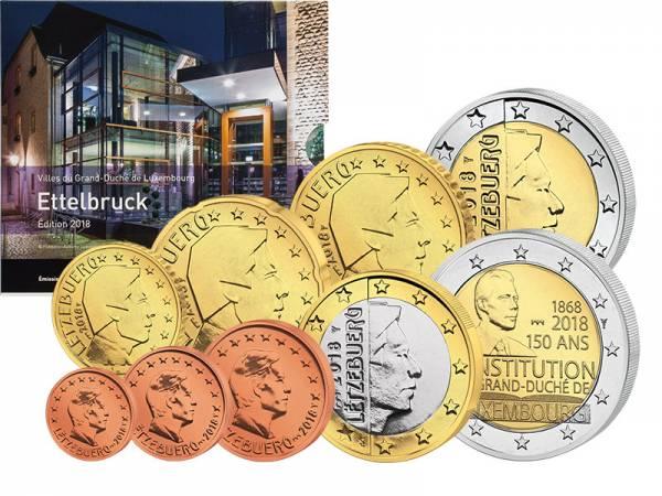 Euro-Kursmünzensatz Luxemburg inkl. 2-Euro-Gedenkmünze 2018 - FOTOMUSTER