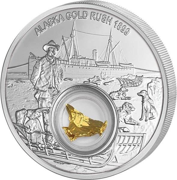 2 Dollars Niue Goldrausch Alaska 1899 2018