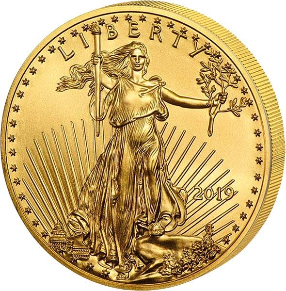 1/2 Unze Gold USA American Eagle 2019