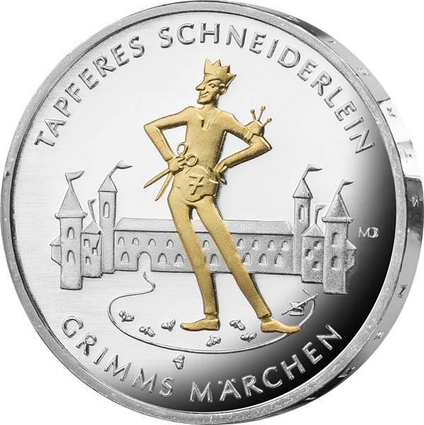 20 Euro BRD das tapfere Schneiderlein 2019 mit Gold-Applikation