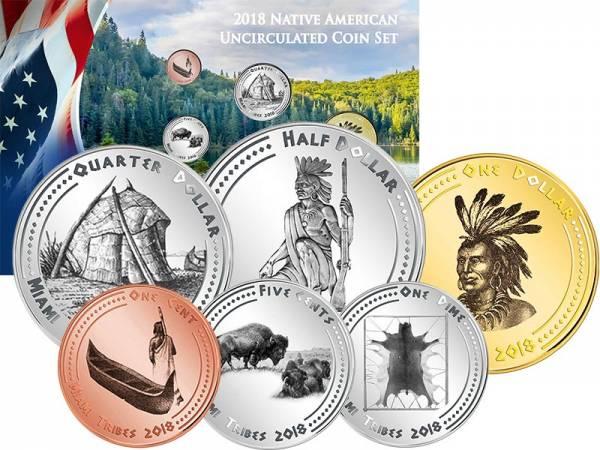 1 Cent - 1 Dollar USA Kursmünzen der Miami 2018