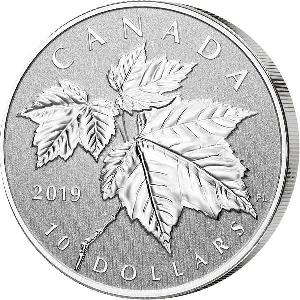 10 Dollars Kanada Red Maple Leaf Silber 2019