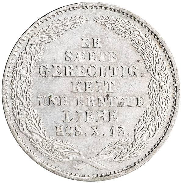 1/6 Taler Königreich Sachsen König Friedrich August II. 1854