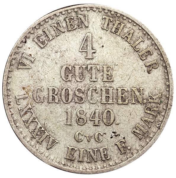 4 Gute Groschen Herzogtum Braunschweig Herzog Wilhelm 1840