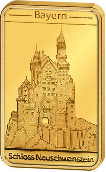 Goldbarren Bayern Schloss Neuschwanstein