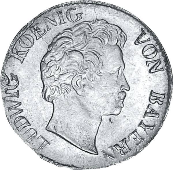 1 Kreuzer Bayern König Ludwig I. 1827-1830 prägefrisch