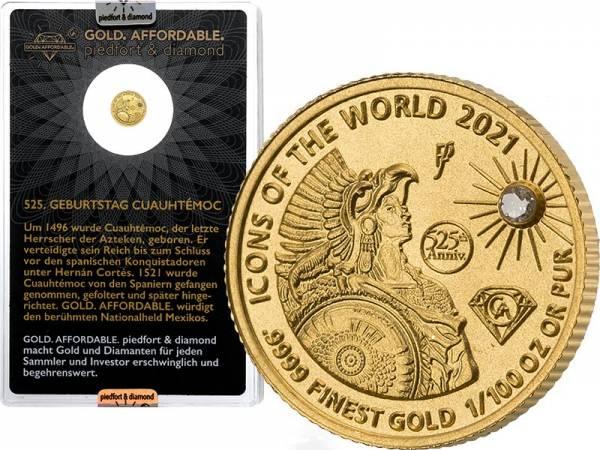 10 Francs Ruanda Gold Affordable Diamond Edition Cuauthemoc 2021