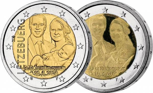2 x 2 Euro Luxemburg Geburt Prinz Charles 2020