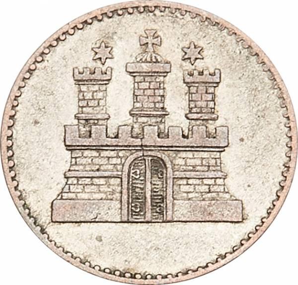 1 Sechsling Freie und Hansestadt Hamburg 1855