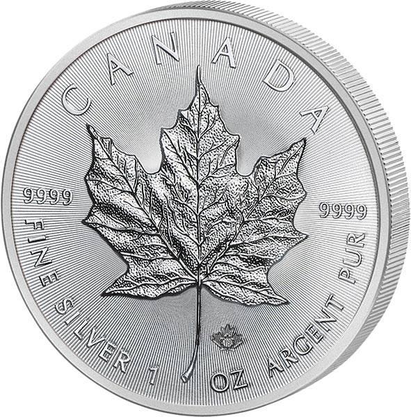 1 Unze Silber Kanada Maple Leaf 2018