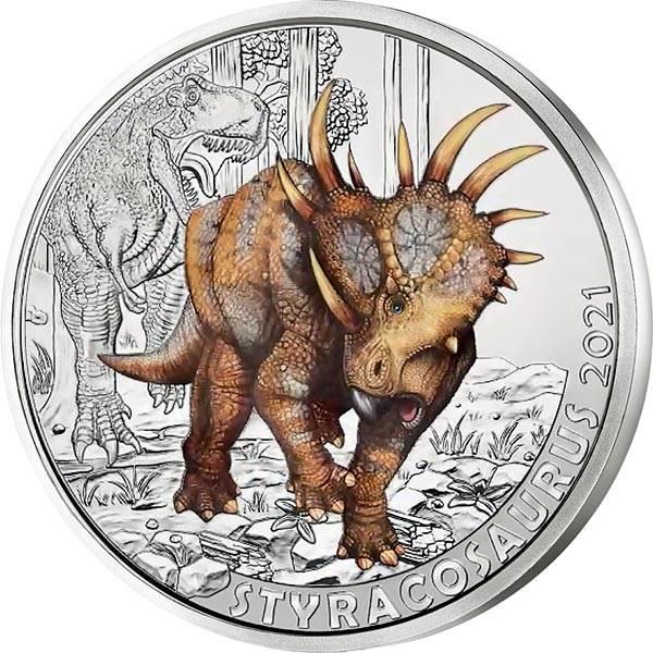 3 Euro Österreich Super-Saurier - Styracosaurus 2021