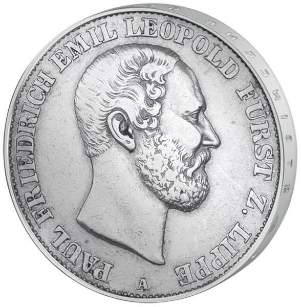 Vereinstaler Silber Paul Friedrich Emil Leopold 1860-1866 sehr schön