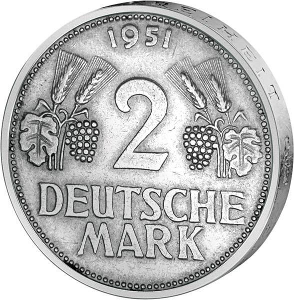 2 DM BRD Ähren 1951