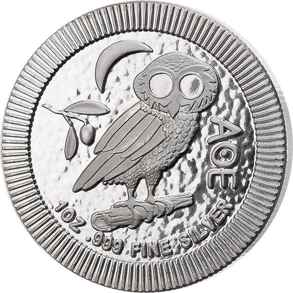 1 Unze Silber Niue Eule von Athen 2021