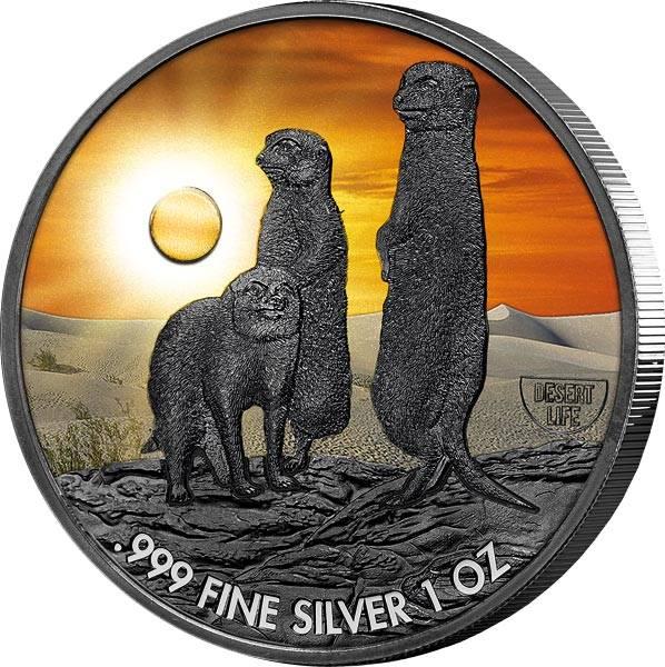 2 Dollars Niue Erdmännchen 2020