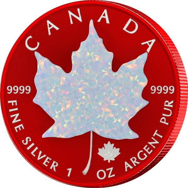 5 Dollars Kanada Maple Leaf Opal Effekt 2019
