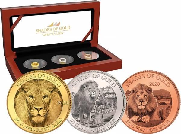 3 x 10 Dollars Salomonen Shades of Gold Löwe 2020