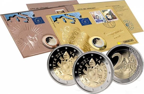 2 Euro Numisbrief Vatikan Set 2018 und 2019