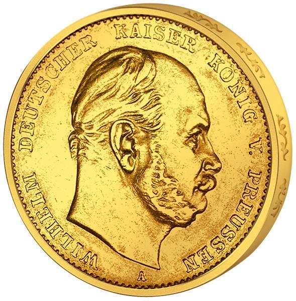10 Mark Preußen Wilhelm I. 1874-1888 Sehr schön