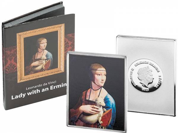 1 Dollar Salomonen Leonardo da Vinci Dame mit dem Hermelin 2015