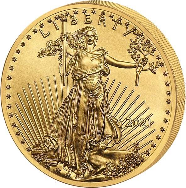 1/4 Unze Gold USA American Eagle 2021