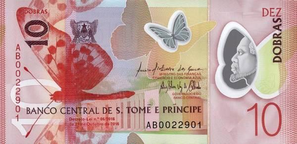 10 Dobras St. Tome und Principe Banknote 2016