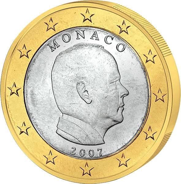 1 Euro Monaco Fürst Albert II 2007 vz-st