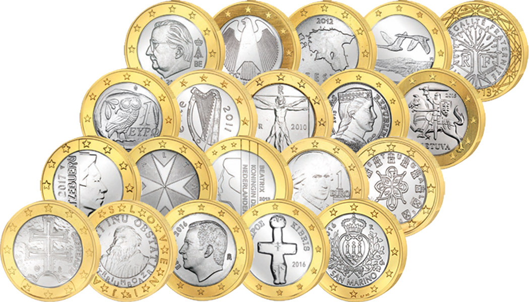 1 Euro Münzen Online Kaufen Münzenversandhaus Reppa