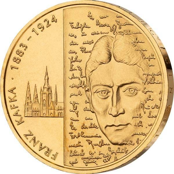 10 Euro BRD 125. Geburtstag Franz Kafka 2008 vollvergoldet
