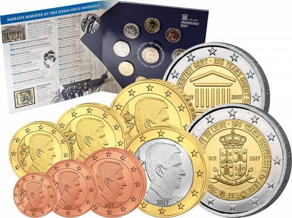 Euro-Kursmünzensatz Belgien inkl. 2 Euro Gedenkmünze 2017
