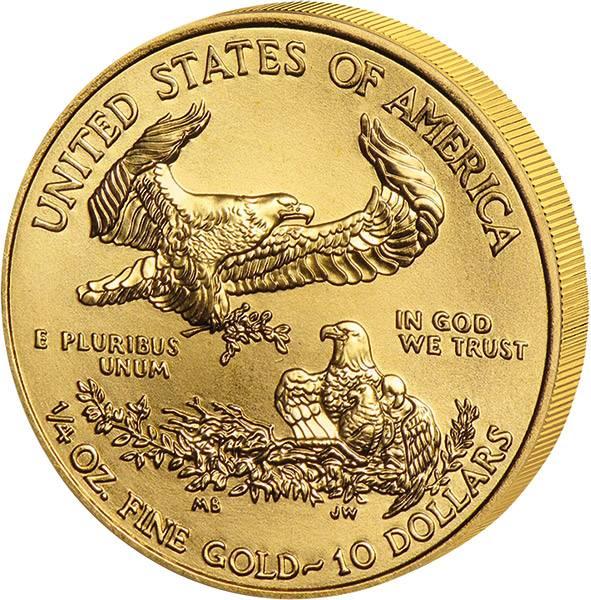 1/4 Unze Gold USA American Eagle 2018