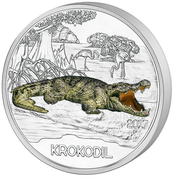 3 Euro Österreich Tier-Taler Krokodil 2017