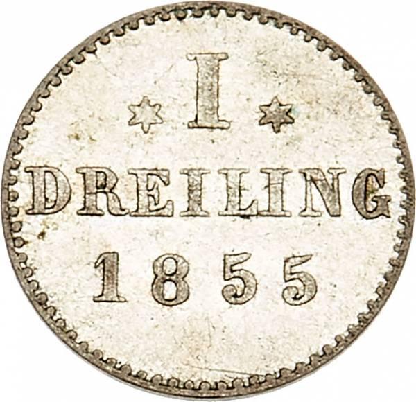 1 Dreiling Freie und Hansestadt Hamburg 1855