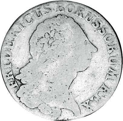 1/6 Taler Brandenburg-Preußen König Friedrich II. 1764-1780 s-ss