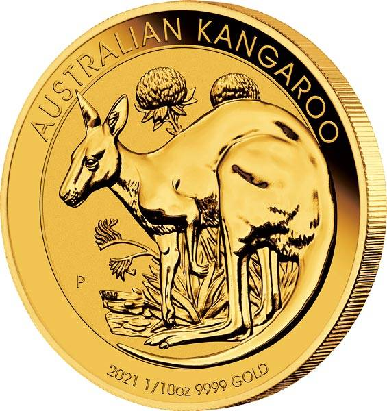 1/10 Unze Gold Australien Känguru 2021