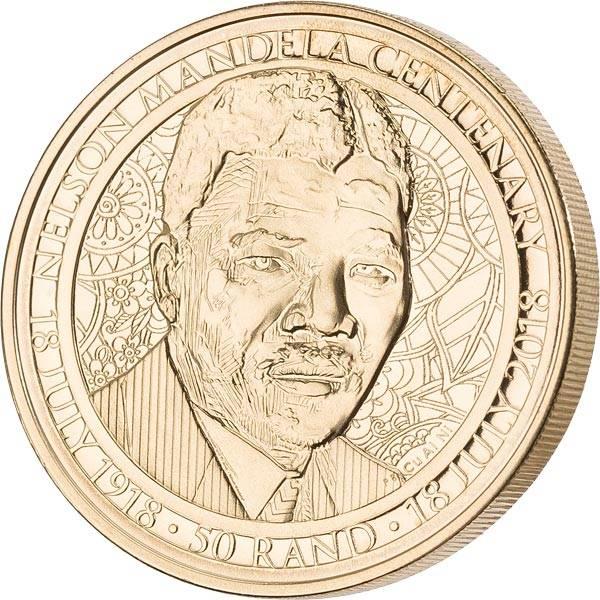 50 Rand Südafrika 100. Geburtstag von Nelson Mandela 2018