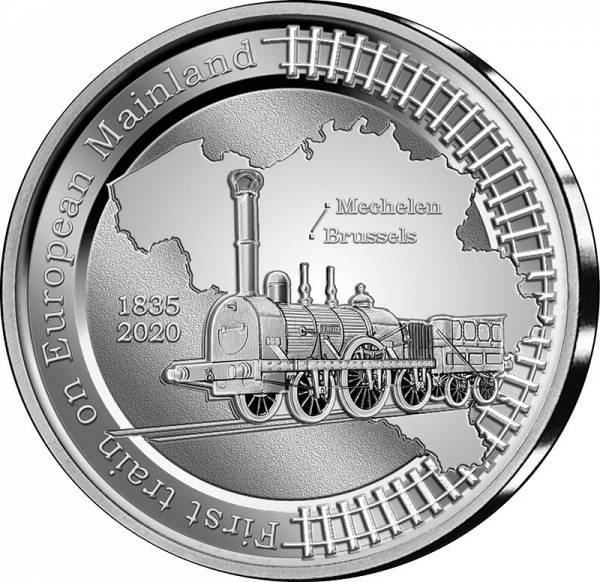 5 Euro Belgien 185 Jahre erste Eisenbahn auf dem europäischen Festland 2020